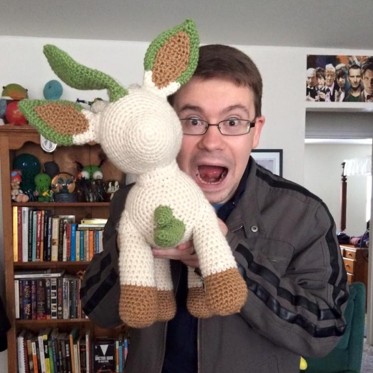 Chris and Leafeon
